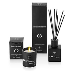 Let the lovely soft scent of sandalwood carry you away. The Oolaboo scented candle and aroma diffuser & sticks are created from natural, pure essential oils extracted from sandalwood that are healthy for mind and body.