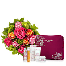 Discover this exclusive selection of Cinq Mondes Must-Have products combined with a lovely bouquet of flowers that will put a smile on her face.