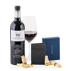 Surprise him with the winning combination of the sought-after Garzini Magic Wallet paired with a wonderful red wine from Bordeaux. It is a fantastic gift idea for men who enjoy the finer things in life.