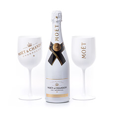 Celebrate with this completely unique take on Champagne by legendary house Moët & Chandon: the Moët & Chandon Ice Impérial is the first Champagne created especially to be enjoyed poured over ice. Presented in a gift set with a pair of Moët signature glasses.