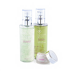 Amore Puro Eye Radiance Cream, Tonic Lotion & Cleansing Gel