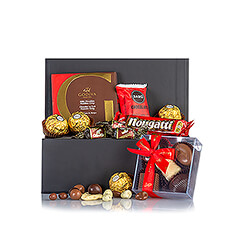 Chocolate makes happy. So make your friends, family, customers or employees happy with this unique, stylish chocolate gift.