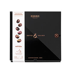 Inspired by the longstanding Belgian tradition of pairing coffee and chocolate, Neuhaus has created six pralines using single-origin cocoa from two of the worlds finest cocoa and coffee destinations.