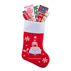 This Christmas Stocking filled with Christmas treats is the perfect gift idea for your entire family, your dear friends, and your employees.