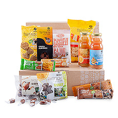 Discover this gift box full of Fair Trade snacks from Oxfam to share at the office.