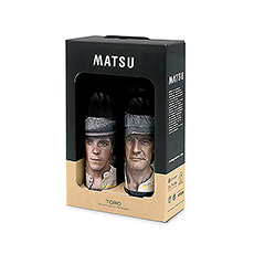 This Spanish wine gift by Matsu is sure to make an impression: once when the unique bottle designs are first seen, and again when the seductive red wine is enjoyed.