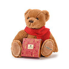 Soft, cuddly and so charming, this Christmas Godiva teddy bear will conquer many hearts!
