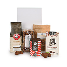 Discover this 100% Belgian Trias breakfast gift basket - a gift that keeps on giving.