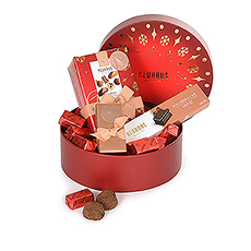 This magical red box is packed with Belgian Neuhaus chocolates, truffles, chocolate bars and the iconic Gianduja chocolates.
