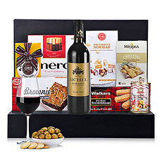 Looking for a gourmet gift with wine that is certain to impress? This gift box has it all!