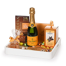 Gifts 2020 : Godiva & Veuve Cliquot Serving Tray Easter