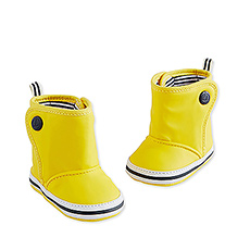 Petit Bateau : Yellow Baby Boots, 6 Months - Size 19/20