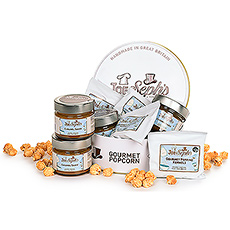 This popcorn-making kit is a great gift idea for family movie night, date night, virtual parties, and virtual team building events.