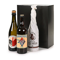 A special gift for someone special: a marvelous trio of Belgian beer & sparkling wine from the West Flanders region.