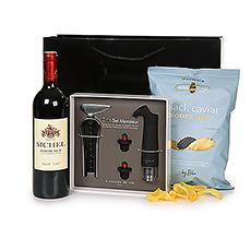 Bordeaux Wine Connoisseur & Caviar Chips Gift Set