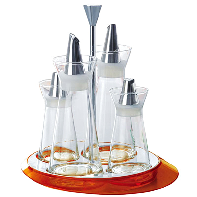 BUGATTI Glamour Oil & Vinegar + Salt & Pepper (4 pcs) Orange