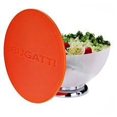BUGATTI Primavera Salad Bowl and Lid / Cutting Board Orange