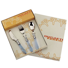 BUGATTI Baby Aladdin Baby Cutlery Set with Giftbox Blue