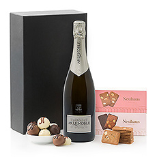 Nothing compares to the elegant pairing of French Champagne and Neuhaus Belgian chocolates. Treat someone to this perfect Champagne gift set today!