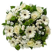 Livraison de bouquet de fleurs à domicile. Un bouquet tout blanc. Consultez notre boutique de cadeaux en ligne et découvrez un grand assortiment de cadeaux pour chaque occasion, des cadeaux de la Saint-Valentin, pour des Mariages, anniversaire, des corbeilles de fruits, ...