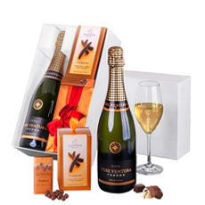 An elegant pairing of Godiva chocolates and Spanish Cava set the stage for a wonderful holiday gift full of gratitude, luxury, and remembrance. Send across Europe today.