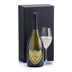 Un cadeau stylé Dom Pérignon et un verre de champagne Schott Zwiesel.