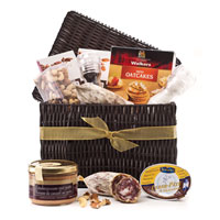 Gourmet gift baskets Europe is hassle free with this gourmet pate gift. Belgian pate in a nice hamper makes a perfect gift for giving in all of Europe.
