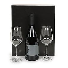Un très bon Merryvale Silhouette, ensemble avec deux verres Schott Zwiesel.