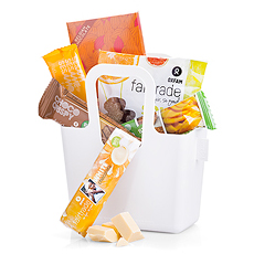 "What do you get when Oxfam chocolate and organic treats are packed into a stylish Koziol ""Taschelini"" sustainable tote bag? The perfect Fair Trade gift bag for all of your corporate gift needs in Italy and across Europe!"