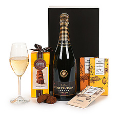 Cava sparkling wine and Corné Port-Royal Belgian chocolates combine into the perfect all-occasion gift for Europe.
