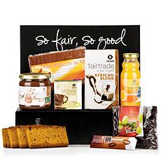 Notre coffret cadeau « Petit-déjeuner » Oxfam pour 2 est une merveilleuse idée de cadeau de mariage de commerce équitable. Envoyez du café équitable, du thé bio, un gâteau au miel, des chocolats et bien plus à un heureux couple.