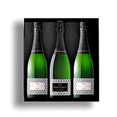 Célébrez les meilleurs moments de la vie avec cet élégant trio de cava  le vin mousseux emblématique dEspagne !