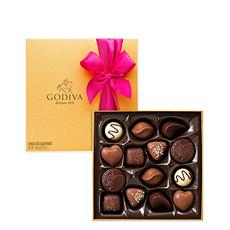 Le Boîte Gold classique de Godiva avec la meilleure sélection des chocolats belges Godiva