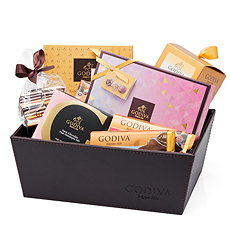 Dig in to this beautiful Godiva chocolate assortment, offering chocolate truffles, bars, Orangettes and chocolate Pearls.