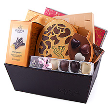 Godiva's most romantic gift basket will spoil your loved ones on Valentine's day with chocolates.