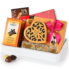 Enjoy a stylish tray full of delicious Godiva chocolates!