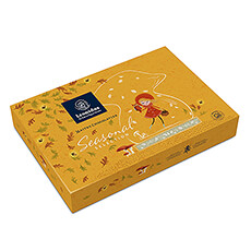 Enjoy this gift box filled with 20 heavenly pralines during the cozy autumn evenings.