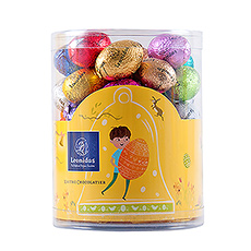 The chocolate Easter eggs in different wrappers are so delicious you will have to eat more than one.