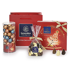 What better present to give than a signature Leonidas Christmas gift bag filled with delicious chocolates?
