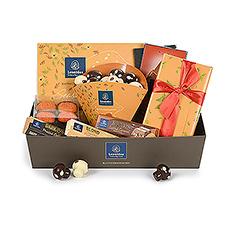 Dorolotez vos amis et votre famille avec ce délicieux panier-cadeau Leonidas, conçu pour les jours d'automne.