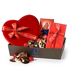 Spice up the romance with this lovely Leonidas hamper.