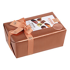 This is the Neuhaus ballotin that includes traditional and fresh cream filled chocolates.