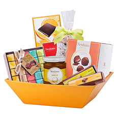The perfect chocolate gift basket for all occasions, including birthdays, weddings, anniversaries, and thank you presents.
