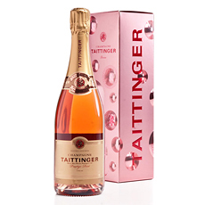 Champagne Taittinger Bubbly Rose 75cl in Prestige Rose Bubbly Pack