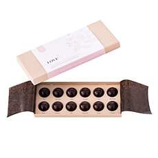 Chocolat Essentiel LOVE Herbal Belgian Pralines, 12 pcs