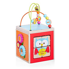 Wooden Preschool Toy Acivity Cube, 18x19.5x34cm