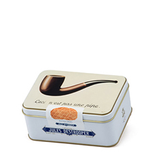 Jules Destrooper Tin Box Mini Magritte Butter Crisps, 75 g