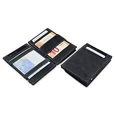 Garzini Essenziale Coin Pocket 'Magic' Wallet Carbon Black