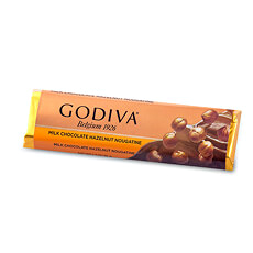 Godiva Bar Milk Chocolate & Praliné Nougatine, 48 g