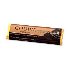 Godiva Bâton de Chocolat Noir Ganache 85%, 45g